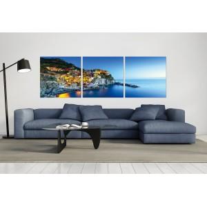 Tableau plexiglas verre acrylique -Décoration murale photo  - triptyque - CINQ TERRES