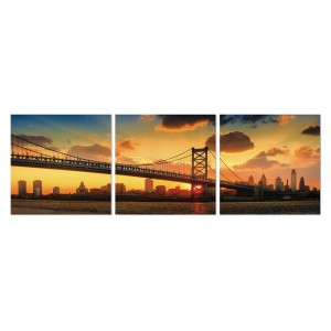 Tableau plexiglas verre acrylique -Décoration murale photo New-York  - triptyque - BROOKLYN
