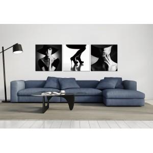 Tableau photo plexiglas verre acrylique - Décoration murale femme - triptyque - LADY