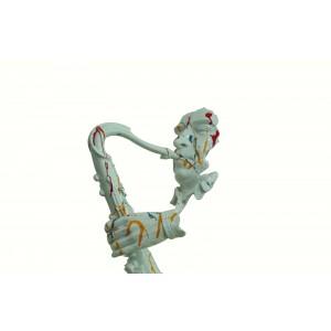 Sculpture saxophoniste décoration moderne multicolore- statue jazzman contemporaine - JAZZMAN
