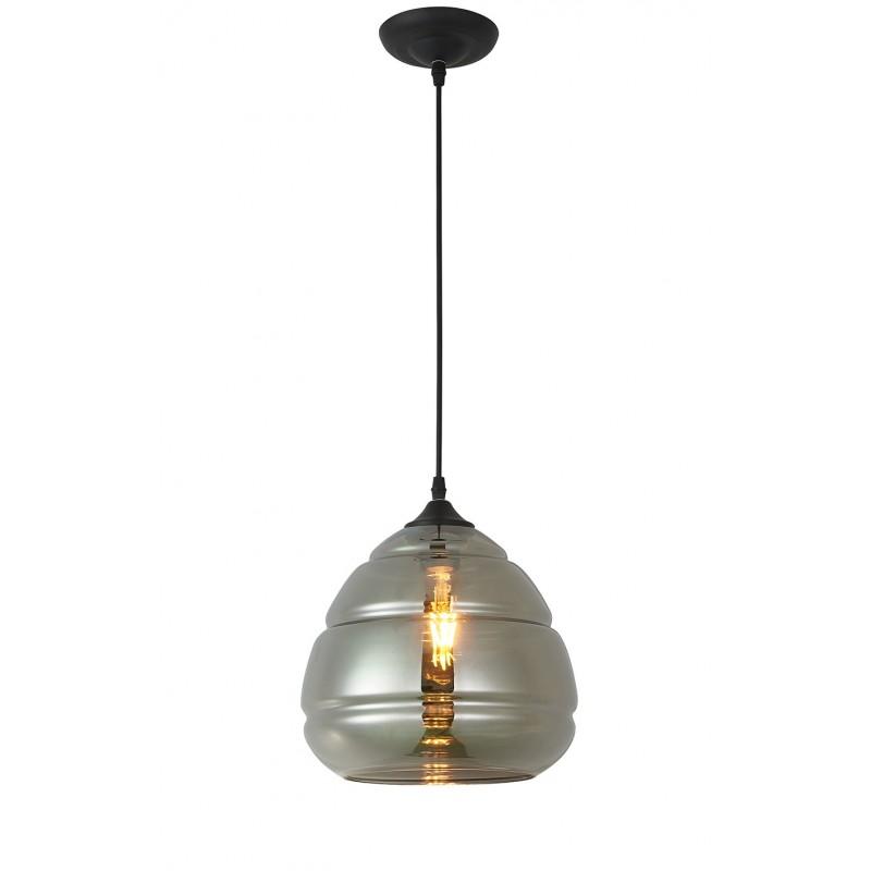Suspension en verre gris givré  - décoration cuisine et salon – design rétro scandinave – VALO GRIS