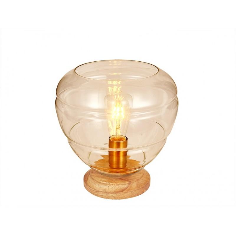 Lampe à poser en verre teinté AMBRE  - décoration - design tendance art déco – VALO ART DECO