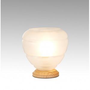 Lampe à poser en verre BLANC OPAQUE - décoration - design tendance art déco – VALO ART DECO
