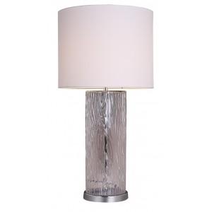 Lampe à poser en verre design et abat-jour BEIGE - style classique moderne – LISA