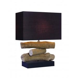 Lampe à poser décoration bois - luminaire décoratif style chalet chic - TREE