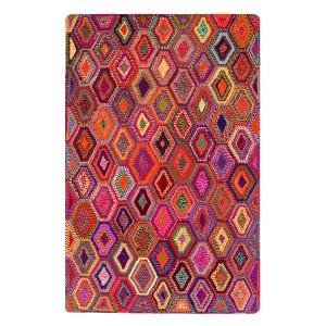 TAPIS multicolore 120x180 rectangulaire - matières naturelles recyclées - bohème chic - GYSPY