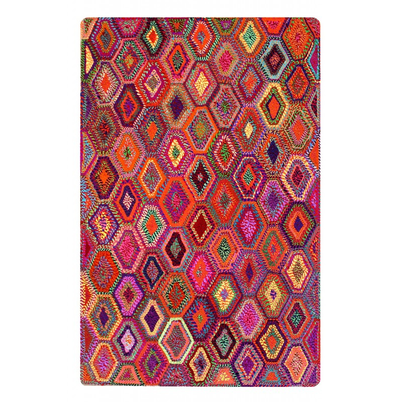 tapis multicolore 120x180 rectangulaire matires naturelles recycles bohme chic gyspy - Tapis Multicolore