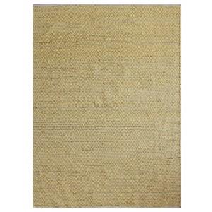 TAPIS jaune/safran 120x180 rectangulaire CHANVRE et COTON - Ethnique bohème chic - robuste - DEVI