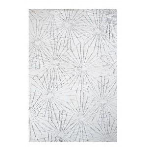 TAPIS blanc/ivoire 120x180 laine douce - design contemporain - KANPUR