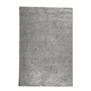 TAPIS gris rectangulaire 120x180 coton - ultra doux, effet brillant - JALNA