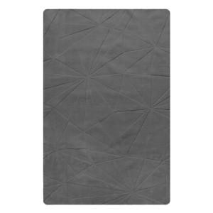 TAPIS gris rectangulaire 160x230 LAINE - texture douce - design contemporain - DELHI