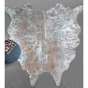 TAPIS peau de vache 160x230  - cuir véritable argenté - design contemporain - JAIPUR