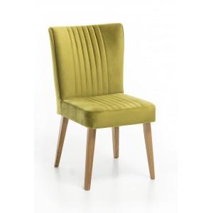 Lot 2 chaises chêne et VELOURS vert - ROYAL